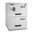 Burton 2 Drawer E Fire Resistant Filing Cabinet - 3334